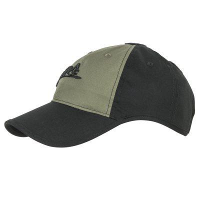 Бейсболка с логотипом Helikon-Tex цвет Black/Olive Green