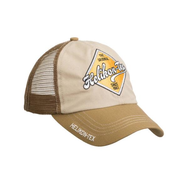 Бейсболка Trucker Logo Cap - Khaki/U.S. Brown. Helikon